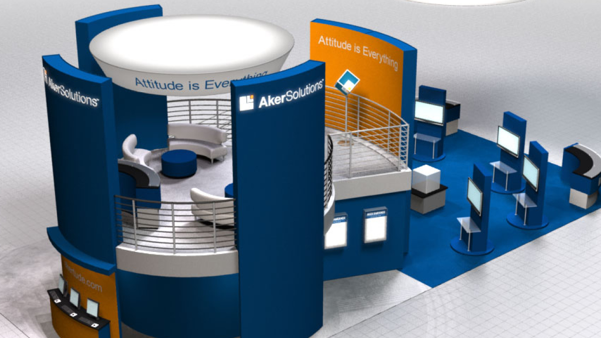 Aker Solutions - OTC Booth US Brand Launch (with Advent), Houston